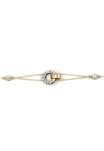 Her Jewellery Circle Me Bracelet (Yellow Gold) Embellished With Crystals  From Swarovski