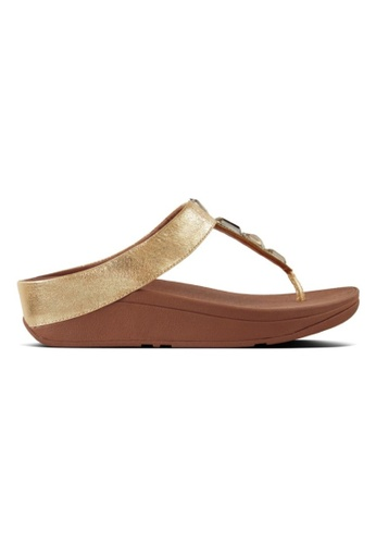 2f315609db29 Fitflop gold Roka Toe-Thong Sandals 23553SH0BD6EEFGS 1