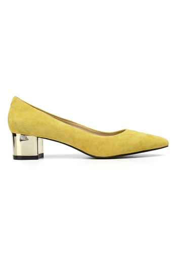 Byford yellow Maypole 4cm Mid Heels 36BC7SH3325D89GS_1