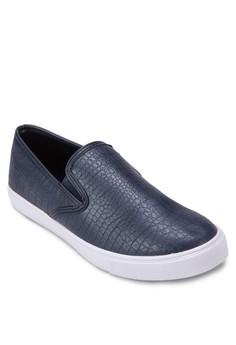 Faux Croc Leather Slip On Sneaker