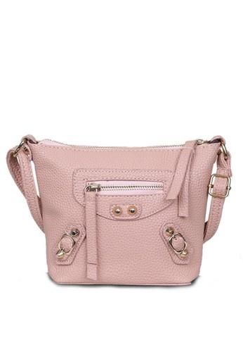 Quincy Label pink Tas Selempang Sling Bag Wanita Balen - Pink 9F508AC1F9099BGS_1