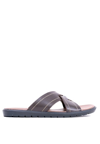 Tony Perotti brown Tony Perotti Sandals Eliot - Brown C03ECSH4E4B95EGS_1