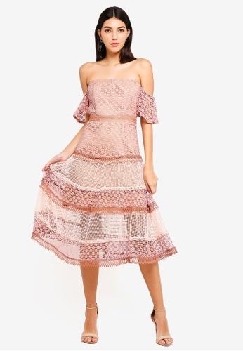 Bardot pink Kristen Lace Dress AA23EAAFDF9E5CGS_1
