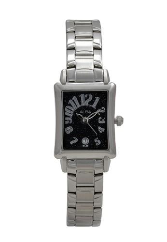 Alba silver ALBA Jam Tangan Wanita - Silver Black - Stainless Steel - AXT291 43B5EAC0558B22GS_1