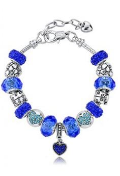 Deep Ocean Crystal Charm Bracelet by ZUMQA