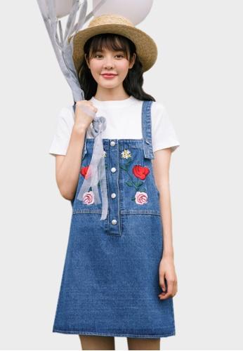 Shopsfashion blue Denim Slip Dress  9CFB7AA6B25932GS_1