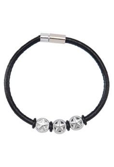 Men's Pu Wristband With Stars