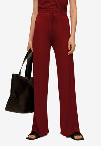 Mango red Straight Cotton Trousers EA2BBAA691B6E1GS_1