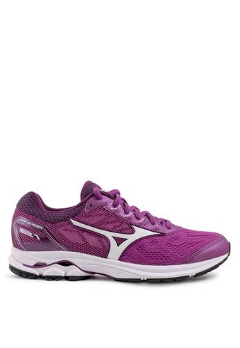 Mizuno purple Wave Rider 21 Running Shoes 9BFEBSH6DEC190GS_1