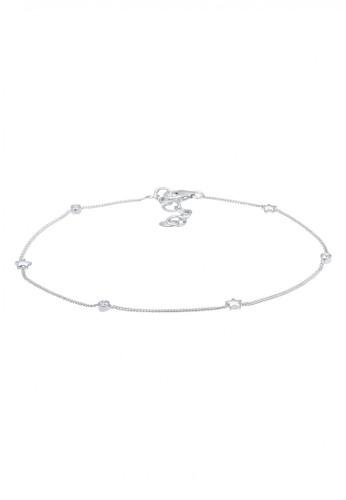 Elli Germany silver Perhiasan Wanita Perak Asli - Silver Gelang Kaki Bintang Crystal 0F8C5AC054EE12GS_1