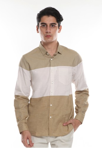 Manzone beige KULO 5-BEST BUY-BEIGE LS Shirt FE5CFAAA9FC743GS_1