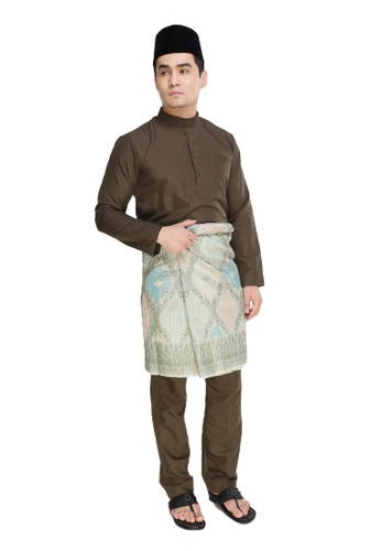 Amar Amran green Baju Melayu Raja Sehari A6667AAE825EBAGS_1