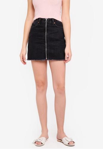 Abercrombie & Fitch black Black Zipper Denim Mini Skirt 25EC0AA70A57CFGS_1