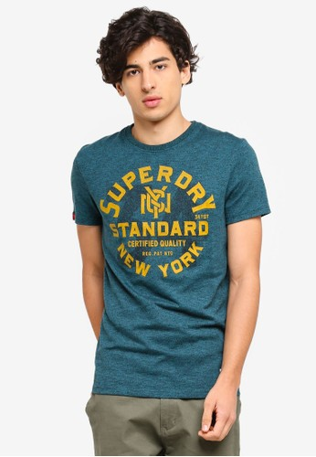 Superdry blue and multi 34th Street Flagship Tee F758CAA4991A14GS_1
