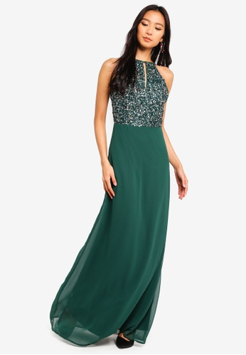 8a04af84a7c Lace   Beads green Basia Maxi Dress With Embellished Top 19E23AA848EFD1GS 1