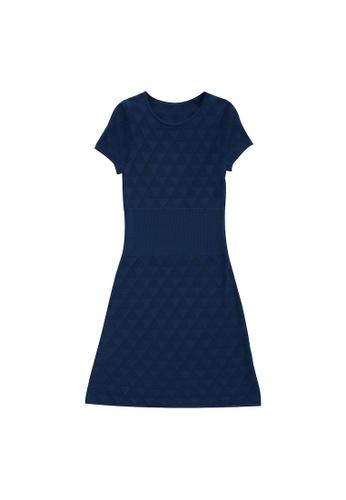 KLAPS blue Openwork Knit Dress F0670AA98370E0GS_1