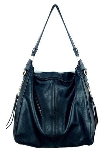 BELLE LIZ 黑色 Dashing Ladies PU Hobo Handbag Black CCEF7ACE535C6FGS_1