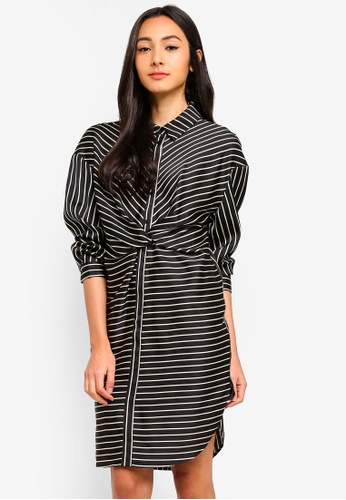 Sisley multi Striped Shirt Dress 2CF57AAC977B71GS_1