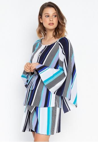 c91bd9ba8 Shop Josie Stripes Kimono Top Online on ZALORA Philippines