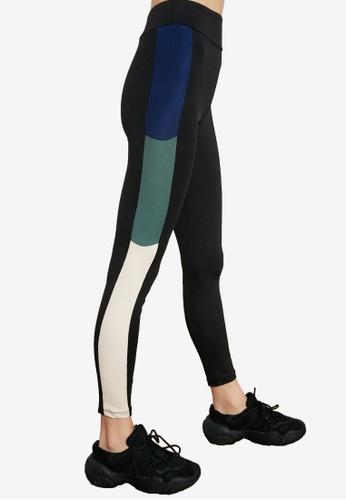 Trendyol black Colorblock Leggings 4F4A2AA8F6A5CEGS_1