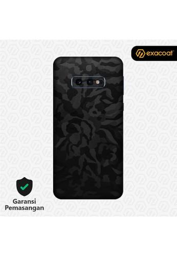 Exacoat Galaxy S10e 3M Skins Black Camo - Cut Only CF8B4ES950DC08GS_1