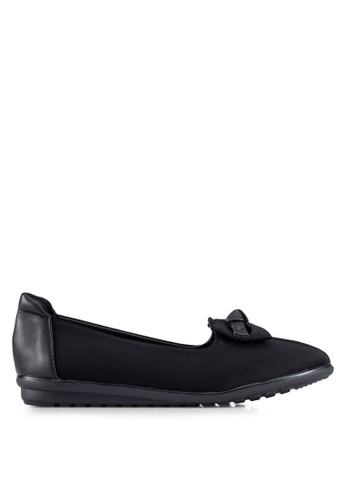 Louis Cuppers black Bow Detail Flats LO977SH0RX3YMY_1
