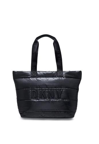 DKNY black DKNY Women Georgina Tote With Logo Print 46516ACA48BD14GS_1