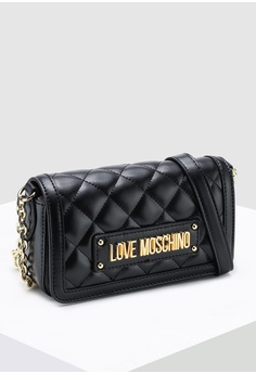 25b2391454d3 Love Moschino Quilted Shoulder Bag S  289.00. Sizes One Size