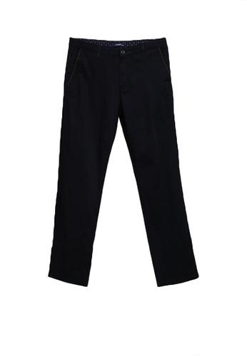 LC Waikiki navy Standard Fit Twill Trousers 3519CAA14B42A8GS_1