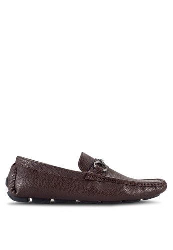 UniqTee brown Driving Moccasins With Buckle Detail UN097SH73RQWMY_1