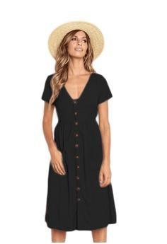 8a3aa2b438dfda Seoul in Love black Melia Dress in Black 6FE99AA668C1C5GS 1