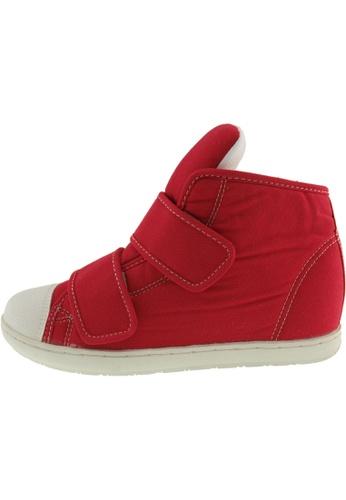 Maxstar 紅色 新款韩国鞋203H-2Band時尚帆布布混合女紅色 US Women Size MA345SH82GXTTW_1
