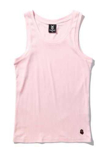 Fingercroxx pink Bigfoot head logo tank top BAAE7AAD2B00D6GS_1