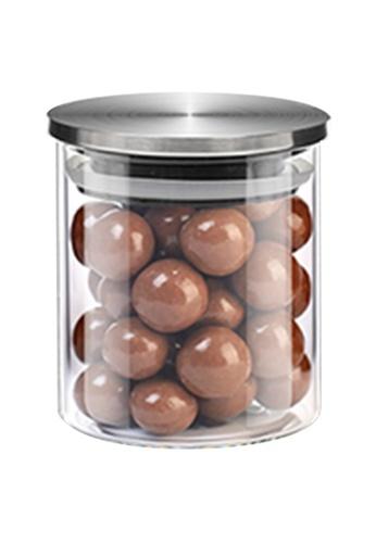HOUZE HOUZE - 180ml Glass Storage Jar with Stainless Steel Sealed Lid (Dia: 6.5cm) F1E21HLDD47D59GS_1