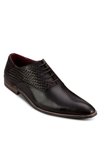 編織繫帶尖頭皮鞋, 鞋,esprit outlet 台中 鞋