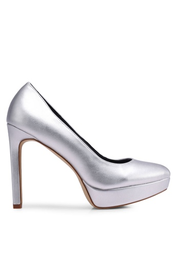 Nose 銀色 Pointed Platform Heel Pumps E9CDASH9F25566GS_1