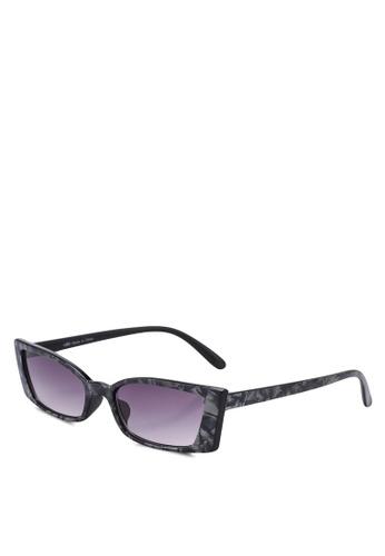 Rubi black Tayla Square Frame Sunglasses 2E12DGL013D3F1GS_1