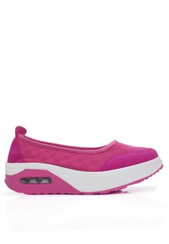 Twenty Eight Shoes 粉紅色 網布密頭搖搖鞋 VC2963 8BF10SH3C6BD71GS_1