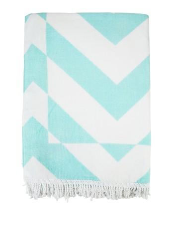 雙色印花流蘇便esprit outlet 桃園毛巾, 飾品配件, 飾品配件