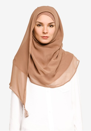 Bokitta brown Wet Sand Instant Hijab 2DA1EAA3604A09GS_1