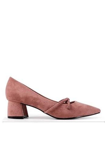 Twenty Eight Shoes 尖頭蝴蝶結高踭鞋 999-3 1D40FSH5FC06F0GS_1