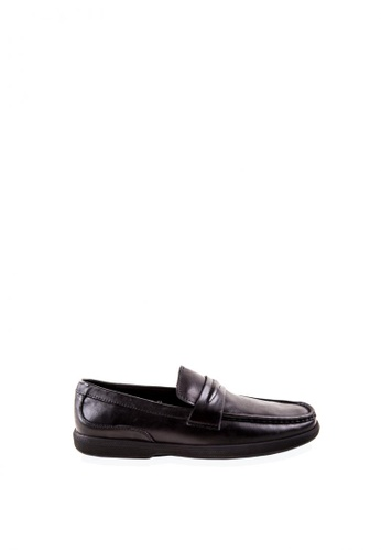 Otto black Slip-On Penny Loafers 251C2SHFF65078GS_1