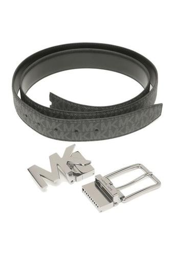MICHAEL KORS black Michael Kors Mens 4-in-1 Signature Canvas Belt Gift Set Box Black D3D87ACEE0AAE6GS_1