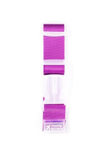 Travel Manila purple Adjustable Travel Luggage Strap TR905AC0JMZ7PH_1