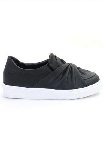 Crystal Korea Fashion black Korean Made Wild Lightweight Flat Shoes 4873BSHA65DCC0GS_1