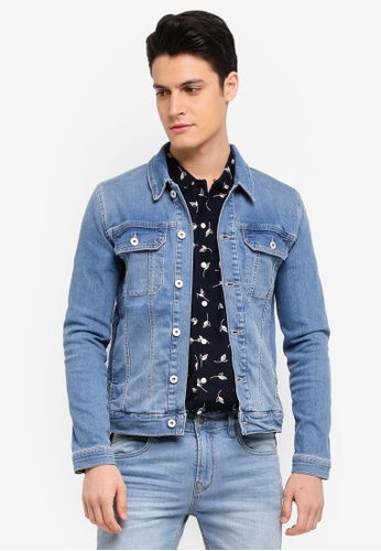Topman blue Light Wash Muscle Fit 3CEE1AAFAFFF24GS_1