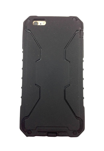 Nadjames black Shockproof Hybrid Armor Rubber Heavy Duty Case Cover For Apple iPhone 6G / 6S 4.7 NA782AC03POMPH_1