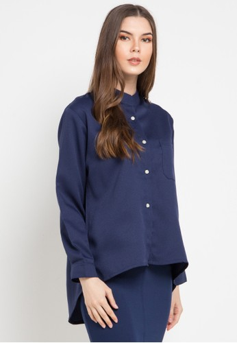 Office Hour navy Marigold Blouse 7B522AAAE184A8GS_1