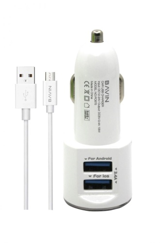 BAVIN white Fast Charging Car Charger for Android DD097AC204B138GS_1