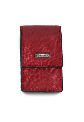 Valentino Rudy red Valentino Rudy Saffiano Leather Key Holder VA677AC18TEFSG_1